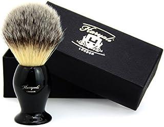 Zwarte basis met Sliver TIP Badger op zoek haarborstel voor mannen -1OO% handgemaakt.