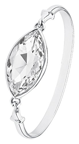 Noelani Damen-Armreif Swarovski Elements oval Messing rhodiniert Kristall weiß 6.5 cm - 566124