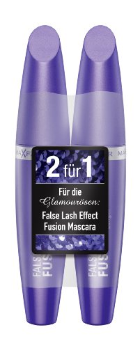 Max Factor False Lash Effect Fusion Mascara black plus 1 gratis, 1er Pack (1 x 13 ml)