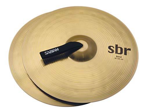 Sabian SBR1422 14-Inch SBR Concert Band Hand Cymbals - Pair, Brass, inch