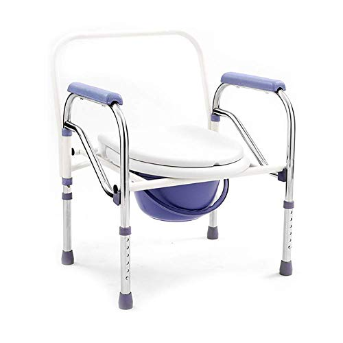 Z-SEAT Drive Medical Steel Folding Bedside Commode, Portable Toilet, Over Toilet and Bedside Commode, Comes with Bucket/Lid