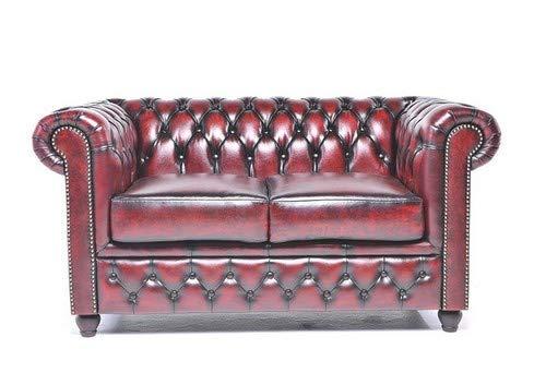 The Chesterfield Brand -Divano Chester Brighton Rosso Antico -2 posti -Pelle vera -Fatto a mano