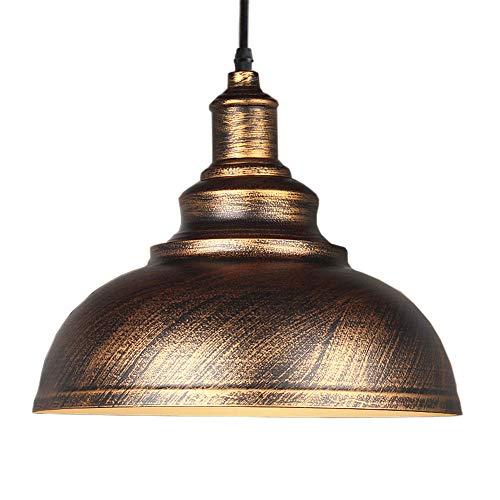 Lampara Colgante Retro Vintage Shades E27Ø29cm, Industrial Metal Techo Luz para Dormitorio Restaurante Cafetería y Bar Decoración (Dorado)
