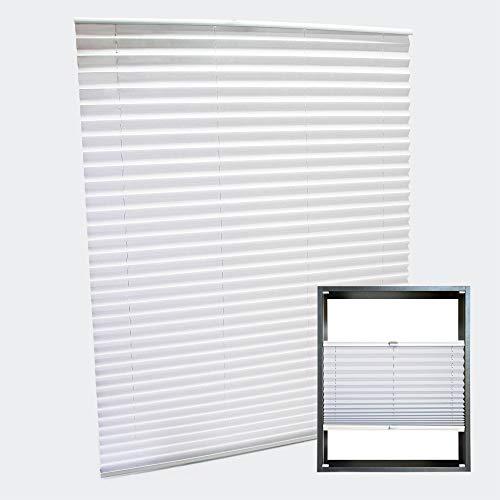 WilTec Estor Plisado Color Blanco 85x150cm Persiana Interior Cortina Enrollable Celosía para Ventana