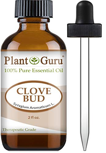 Clove Bud Essential Oil 2 oz 100% Pure Undiluted Therapeutic Grade for Aromatherapy Diffuser, Natural Remedies for Skin, Body, Hair. Great for DIY Candle and Soap Making.