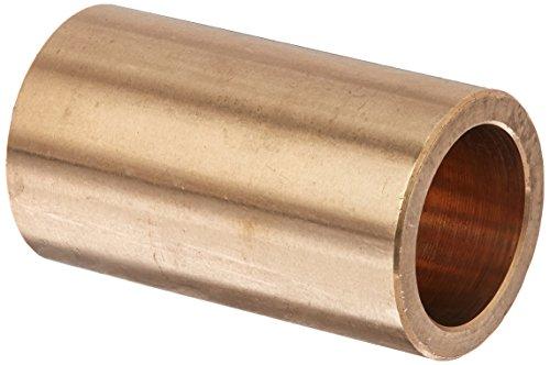 "Bunting Bearings CB121614 Sleeve (Plain) Bearings, Cast Bronze C93200 (SAE 660), 3/4"" Bore x 1"" OD x 1-3/4"" Length (Pack of 3)"