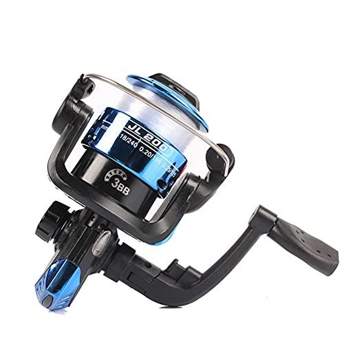 LIZHOUMIL Carrete de pesca 3BB 5,2:1 de alta velocidad, ligero, para pesca de agua dulce y marina, color azul