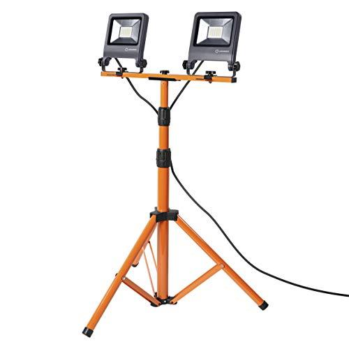 LEDVANCE Lampe de travail à LED, lampe pour l'extérieur, blanc froid, trépied, lampe de travail à LED, 2 x 30 watts
