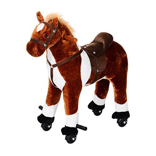 Qaba Kids Plush Ride On Toy Walking...
