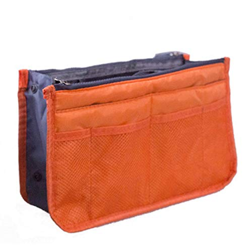 Tree-on-Life Organizer Insert Bag Damen Nylon Travel Insert Organizer Handtasche Geldbörse Großer Liner Lady Makeup Kosmetiktasche Female Tote Orange
