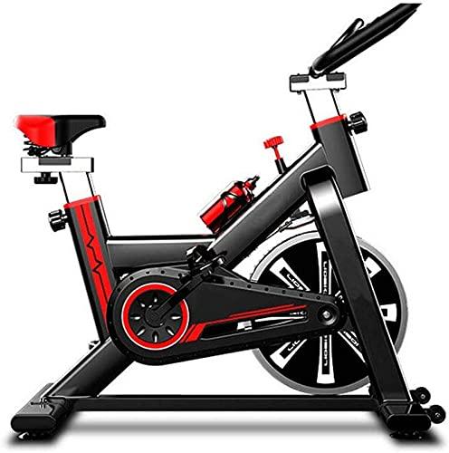 ZJDM Bicicleta de Ciclo Ultra silenciosa para Interiores, Bicicleta de Ejercicios cardiovasculares para Ejercicios, Asiento de Manillar Ajustable, Volante Motor, Monitor Digital LED, Gimnasio en