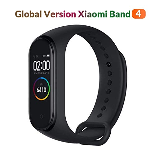 Xiaomi MiBand 4 Global Version Smartwatch, 2,4 cm (0,95 Zoll), AMOLED-Farbdisplay, Unisex, Schwarz