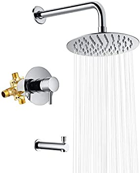 Crea Shower Faucet System Rain Shower Head with Handheld Spray