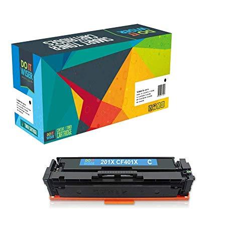 Do it wiser kompatible Toner als Ersatz für HP 201A HP 201X HP Color Laserjet Pro MFP M277dw MFP M277n M252dw M252n M274n (Cyan)