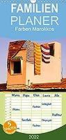 Farben Marokkos - Familienplaner hoch (Wandkalender 2022 , 21 cm x 45 cm, hoch): Marokko bleibt dem Reisenden in vielerlei Hinsicht in Erinnerung; aufsaugen wird er in jedem Fall eine kaum fuer moeglich gehaltene Farbenvielfalt und -intensitaet. (Monatskalender, 14 Seiten )