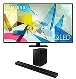 Samsung QN75Q80TA 75' 4K Quantum Ultra High Definition Smart TV with a Samsung HW-Q60T Wireless 5.1 Channel Soundbar and Bluetooth Subwoofer (2020)