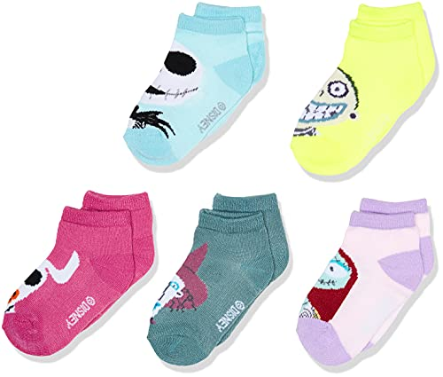 Disney Baby Nightmare Before Christmas 5 Pack Shorty Socks, Pastel Multi, 2-4 Toddler