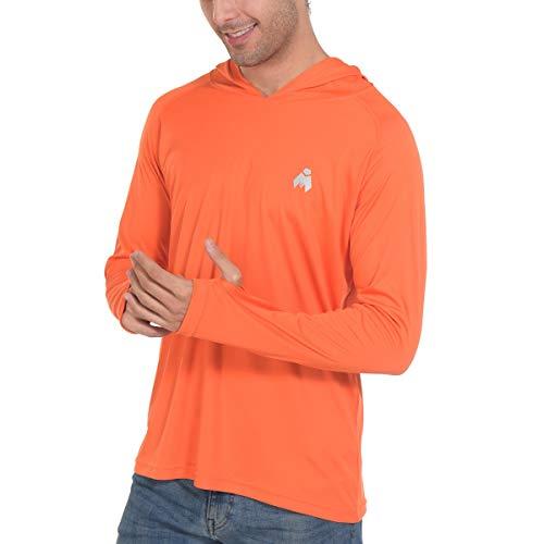 Midubi Rash Guard Men Fishing T-Shirts - Sun Protection UPF 50+ UV Outdoor Hiking Shirts