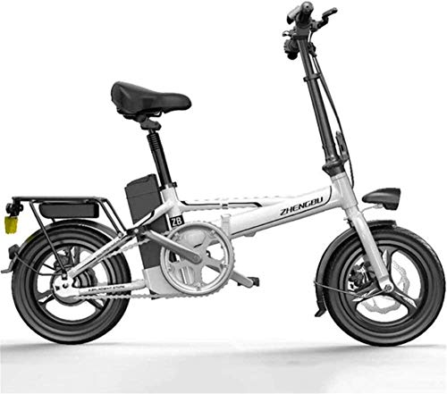 RDJM Bici electrica Bicicletas rápidas y Eléctrica en adultos plegable del peso ligero de bicicleta eléctrica de 400 W de alto rendimiento del motor de accionamiento trasero Power Assist aluminio de l