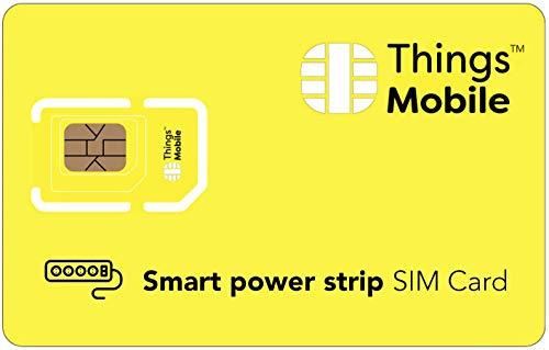IOT/M2M-SIM-Karte für SMARTE STECKDOSENLEISTE / SMART POWER STRIP - Things Mobile - Things Mobile - weltweite Netzabdeckung, Mehrfachanbieternetz GSM/2G/3G/4G, ohne Fixkosten. 10 € Guthaben inklusive