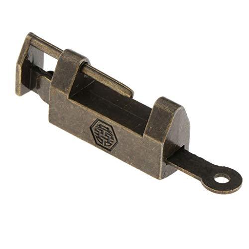 Sharplace Cobre Exquisitos Candados de Bronce Retro con Llaves para - Doble felicidad