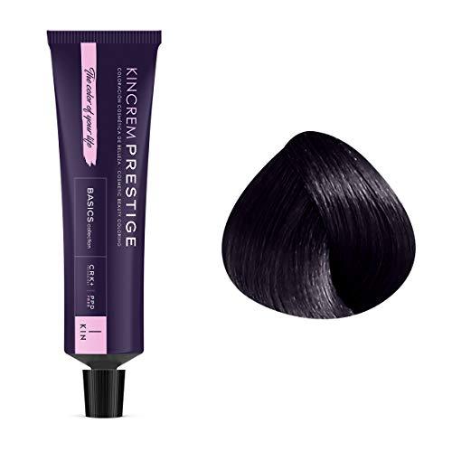 Coloration permanente enrichie à la kératine 1.1 - Noir Bleu Kin Cosmetics