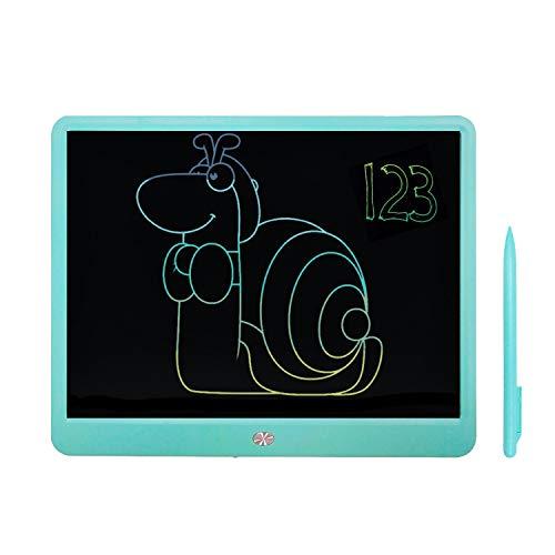 Tableta de Escritura LCD Mejorada de 15 Pulgadas, Tablero de garabatos de Dibujo con gráficos borrables Coloridos, Escritura a Mano de Negocios, Oficina de la Escuela