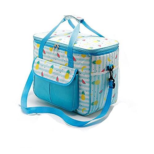 Swadal Packs de Hielo para Nevera portátil Nevera portátil Impermeable para Aislamiento de Alimentos Bolsa térmica Bolsa Acolchada para Enfriador de Vino (Color: 22L)