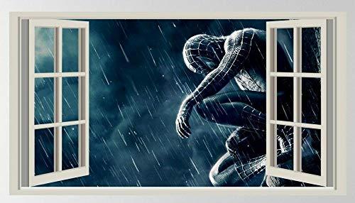 HUAXUE'Spider 3D, Stickers, Kids, Decals, Bedroom, Superhero, Wall Art, Decoration'