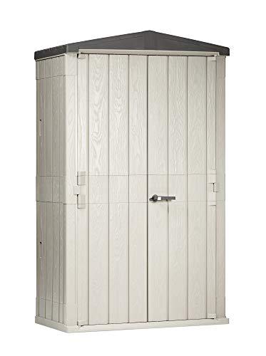 Toomax Capanno Porta Attrezzi (High Storer Plus 1.670L - cm 130x75,6x218,4h, Grigio Talpa/Antracite)