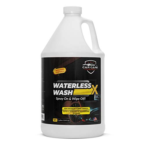 CAR CARE HAVEN Waterless Wash X (128 Oz Gallon) The Best Waterless Car Wash for Autos, Airplanes, Motorcycle, Truck, Boat, RVs, Bikes-Speed Detailer Wipe-Spray On & Wipe Off!