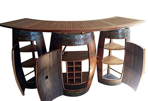 oak wine barrel table - 9