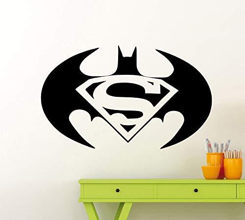 BailongXiao Hero Bat Symbol Art Wall Decal Home Decoration American Style Decoration Silhouette Vinyl Wall Sticker 87x52cm