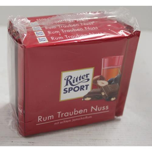 Ritter Sport Rum Trauben Nuss - Schokolade 5x100g