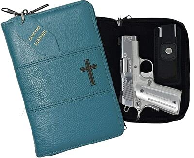Garrison Grip Quality Leather CCW Bible Gun Case for Compact...