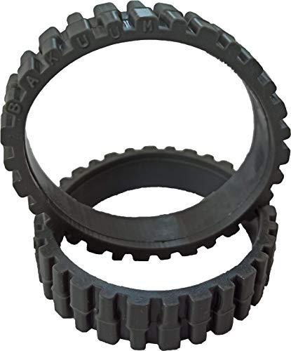 EPIEZA Pack 2 Neumáticos Gris Ruedas para CECOTEC Conga 990, 990 Excellence. y ECOVACS N79, N79S