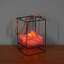 BestSiller Luz de chimenea de carbón simulado, luz LED simulación de carbón, luz de llama de imitación de estilo europeo para oficina en casa