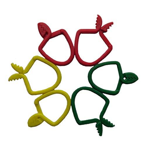 Binghotfire Toalla de te Clips para Colgar Clip de Metal en Ganchos Lazos Toalla de Mano Clavijas para Colgar Verde Rojo Yellow6pcs