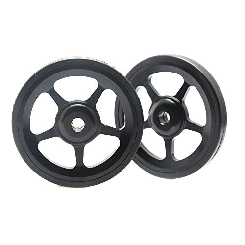 Fanville 1 Pair Easy Wheels for Brompton Aluminium Alloy Wheel Modification Kits Easy Wheel for Brompton Cycling Accessories Super Lightweight Cycling Accessories