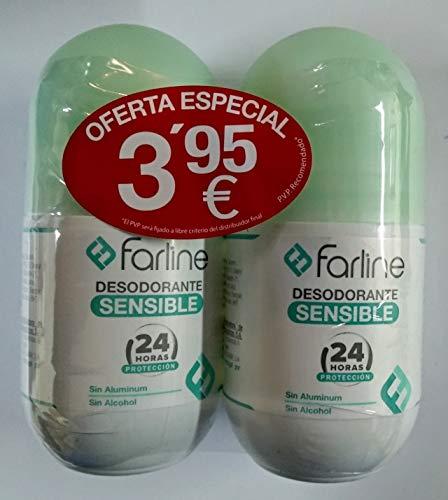 Desodorante Farline roll on sensible pack 2x50 ml