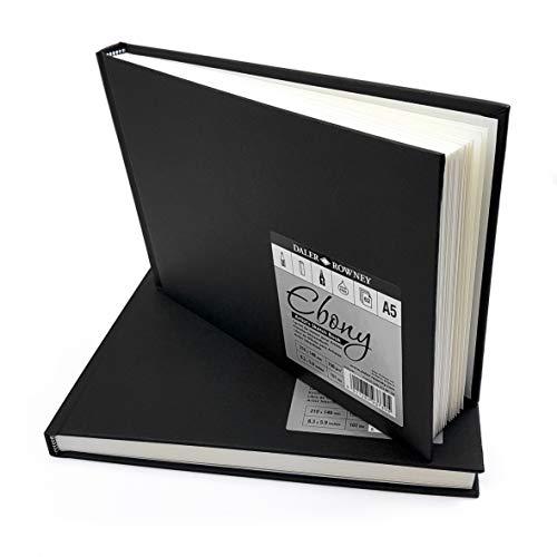Daler Rowney Ebony cartonnée Sketchbook Portrait 150gsm 62 feuilles A5