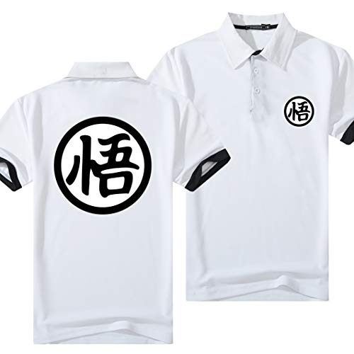 XTT Camisetas De Hombre De Verano Camisetas De Polo -Dragon Ball (Goku) 3D Impreso Impreso Manga Corta Camiseta Tops Tops Sudadera Rápida para Hombres Y Mujeres- Regalos A-XL