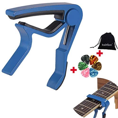 BoBoLing Blue Professional Guitar Tuner Guitar Capo for Acoustic Guitar, Electric Guitar,Ukulele,Bass,Banjo,Mandolin+6 PCS Guitar Picks +Guitar Picks Bag Best QualityShop