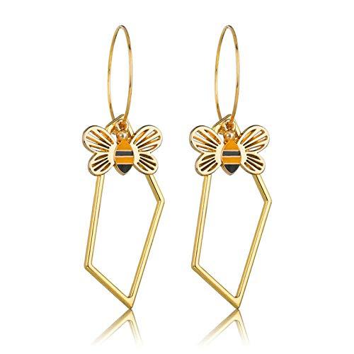 Koreanische Version des ursprünglichen Designs Kirschohrringe Persönlichkeit hohle Doppelbienenlegierung Ohrringe Ohrringe-E0455GL
