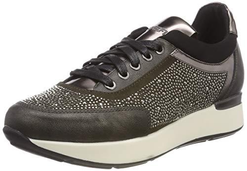 Stonefly Face 13 Nappa/Strass, Zapatos de Cordones Oxford Mujer, Gris (Magnet Gray 08W), 37 EU