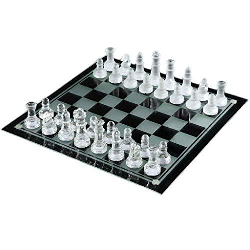 RJJX Home Tarjeta de ajedrez la decoración del hogar de ajedrez de Cristal Juguete Educativo Juego de ajedrez de la decoración del hogar de Escritorio