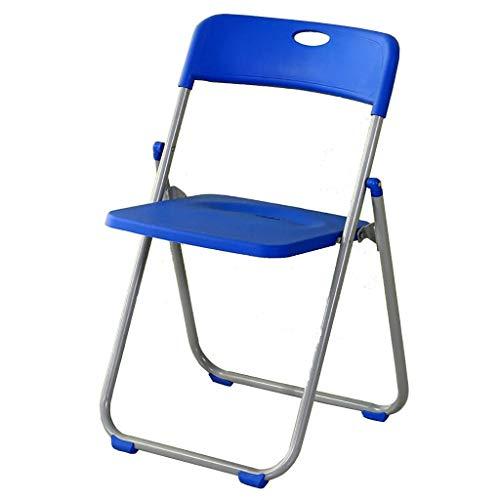 SMX Sedie Pieghevoli in plastica Serie Flash Furniture |Set di sedie Pieghevoli Leggere , Sedia for Schienale for Computer Portatile for riunioni (Color : Blue)