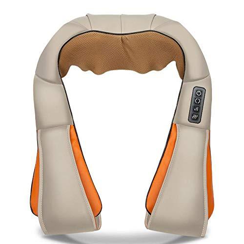 ZUEN Shiatsu-Nacken- und Schultermassagegerät mit hitzeelektrischem Massagekissen mit 3D-Tiefengewebekneten für Fuß, Beine, Körpermuskulatur Schmerzlinderung für zu Hause, Büro/Auto,EU