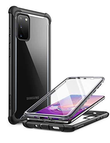 i-Blason Funda Galaxy s20 [Ares] Transparente Case Antigolpes Carcasa con Protector de Pantalla Incorporada para Samsung Galaxy s20 Negro