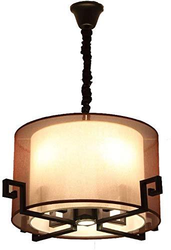 Moderne Stoff Kronleuchter, runder heller Schatten Dekorative hängende Deckenleuchte, Kreative Schlafzimmer Restaurant Kronleuchter Hängeleuchte 1228 (Color : B-61 * 28cm-e27*4)